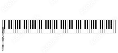 Photo  Grand piano keyboard layout with 88 keys