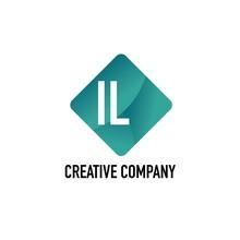 Initial Letter IL Creative Box...