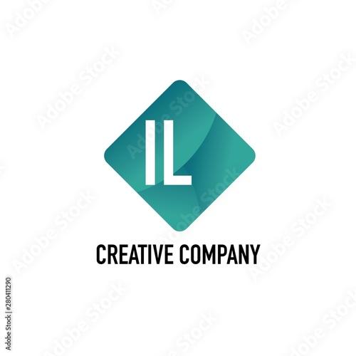 Photo Initial Letter IL Creative Box Design Logo