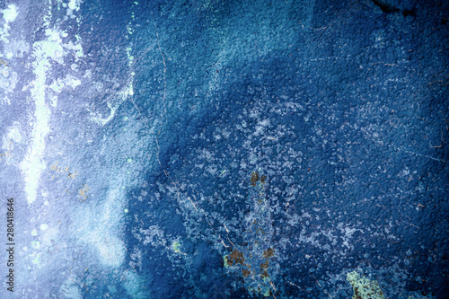 A mineral background image of nature blue azurite. Canvas Print
