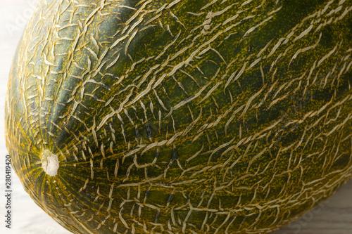 Fotografía Piel de sapo melon close up