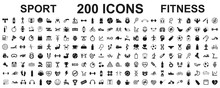 Set 200 Isolated Icons Spotr -...