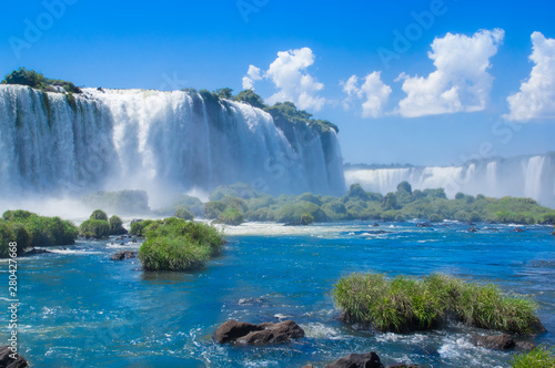 Photographie  Foz do Iguazu. Is a touristic town and waterfalls at Brazil.