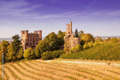 Valokuva  View of the castle Ortenberg surrounded by vineyards_Ortenberg, Baden Wuerttembe