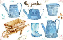 Watercolor Vintage Gardening T...