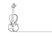 Violin Continuous Line Drawing...