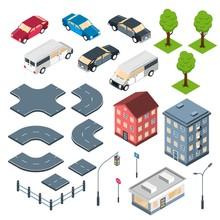 City Elements Isometric Set