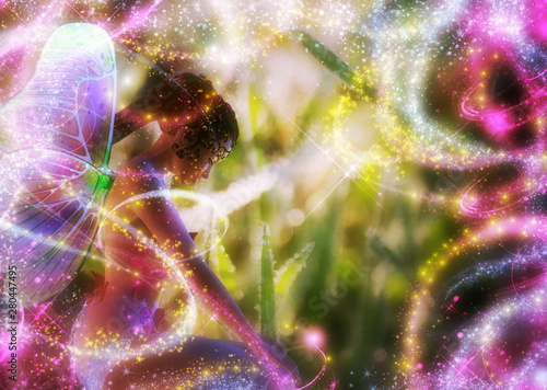 3d fairy in the grass