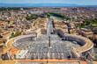 Blick auf den Petersplatz vom Petersdom aus, Vatikan, Rom, Italien