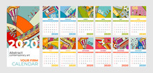 2020 Calendar Abstract Contemp...