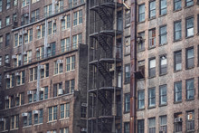 Detail Of An Old Industrial Building, New York City, USA