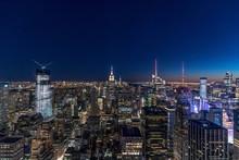 Skyline At Blue Hour, Manhattan, New York City, USA