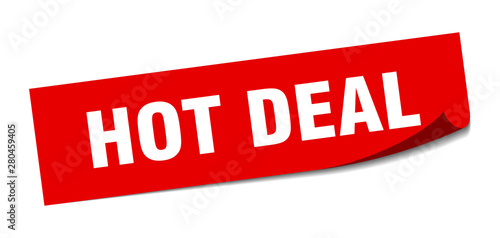 Valokuvatapetti hot deal sticker. hot deal square isolated sign. hot deal