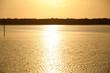 canvas print picture - Sonnenuntergang am Meer vor der Küste Australiens