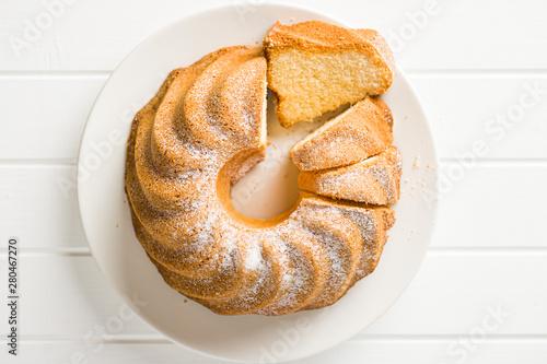 Fotografie, Tablou  Sweet bundt cake.