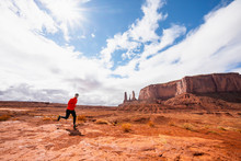 Trail Runner In Monument Valley