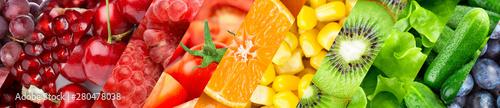 Spoed Foto op Canvas Vruchten Background of fruits and vegetables