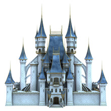 3D Rendered Fairy Tale Castle ...