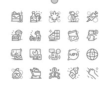 Bad Habits Well-crafted Pixel Perfect Vector Thin Line Icons 30 2x Grid For Web Graphics And Apps. Simple Minimal Pictogram