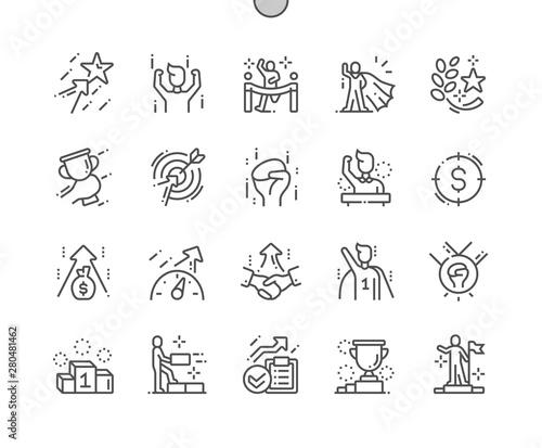 Fotomural  Motivation Well-crafted Pixel Perfect Vector Thin Line Icons 30 2x Grid for Web Graphics and Apps
