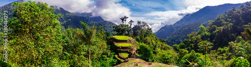 Cuadros en Lienzo  High Angle View of Ciudad Perdida (Lost City) in the Sierra Nevada Mountains of