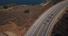 Los Angeles County Sheriff's Department Motorcycle Unit Coast Road, Aerial View