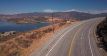 Reveal Shot Of Castaic Lake, A...
