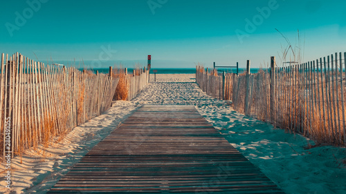 Boardwalk in Cape May NJ Canvas Print