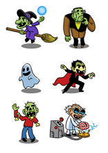 Monsters, Ghost, Vampire, Witch, Zomie