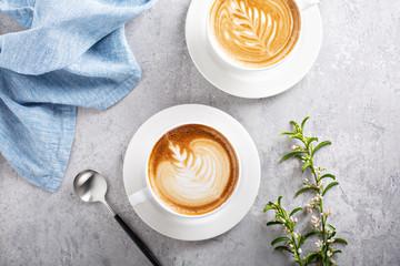 Coffee latte or cappuccino ...
