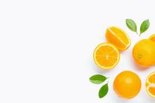 Fresh Orange Citrus Fruit With...
