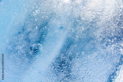 Photo  The texture of the ice. The frozen water.Winter background