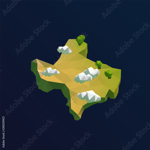 3d Map Of Texas.Texas Vector Low Poly 3d Cartoon Map Buy This Stock Vector And