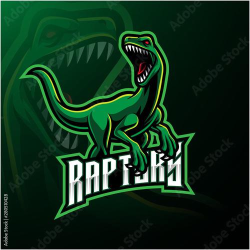 Cuadros en Lienzo Raptor sport mascot logo design
