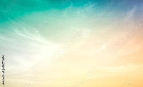 Dramatic sky and clouds sunset background Tablou Canvas