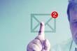 canvas print picture - Ein Mann und eMail Posteingang