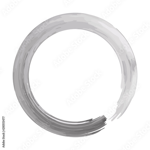 Zen circle isolated illustration on white background