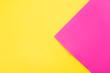 Leinwandbild Motiv Trendy neon pink and yellow combination background.