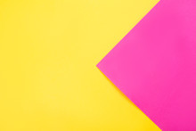 Trendy Neon Pink And Yellow Combination Background.