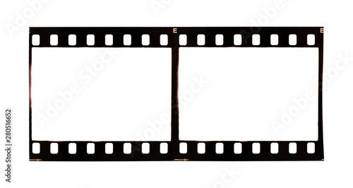 Fototapeta 35mm film strip isolated on background obraz na płótnie
