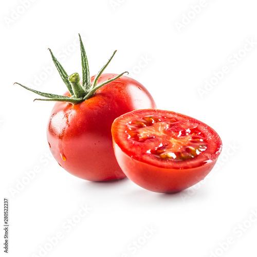 fototapeta na drzwi i meble Close-up fresh tomato isolated on fhite background