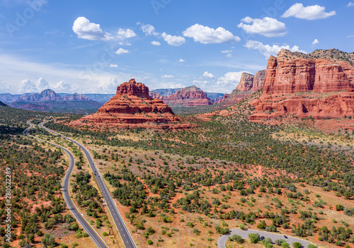 Canvas Prints Arizona Sedona Aerial