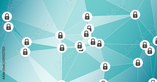 Fototapety, obrazy: Cyber crime company, cybersecurity vector graphic