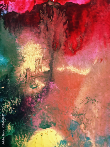 Fototapety, obrazy: Abstract background, hand-painted texture, watercolor painting, drops of paint, paint smears. Design for backgrounds, wallpapers, covers and packaging.Banner for text, grunge element for decoration.