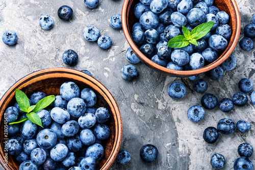Autocollant pour porte Nourriture Berries blueberries or bilberry