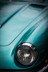 Headlight of a vintage clas...