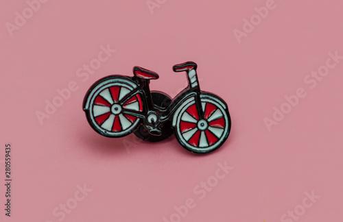 Türaufkleber Fahrrad metal bicycle icon