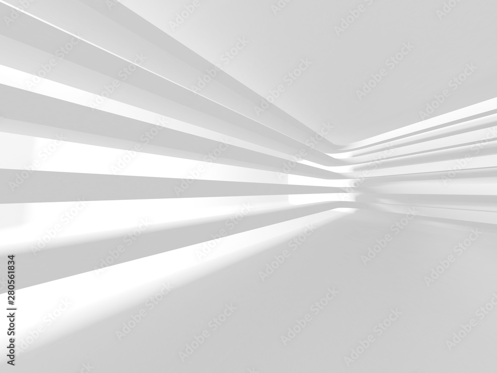 Fototapeta Futuristic White Architecture Design Background