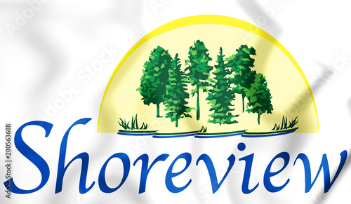 3D Emblem of Shoreview (Minnesota), USA Wallpaper Mural