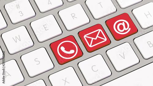 Canvas Prints Personal Kontakt Konzept mit Computer Tastatur